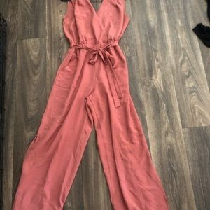 Salmon pink jumpsuit